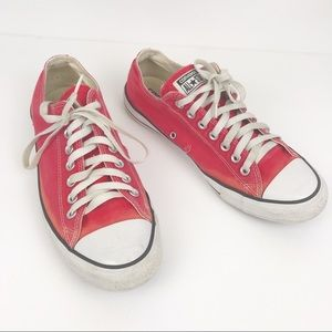 CONVERSE Red Sneakers Size Unisex 11W 9M